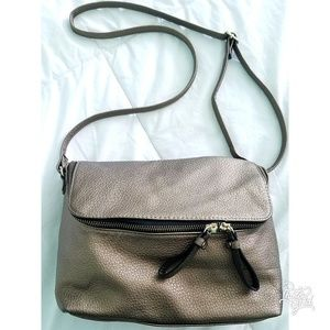 H&m small simple golden brown purse